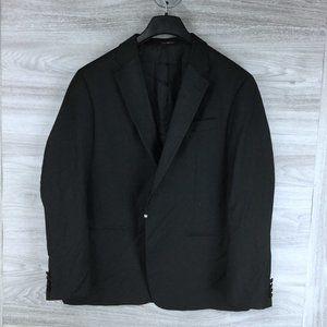 Emporio Armani Black Super 130's Tuxedo Blazer